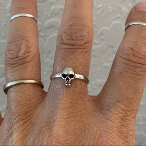 Jewelry - 💀💀NEW ARRIVAL💀💀 Sterling Silver Skull Ring